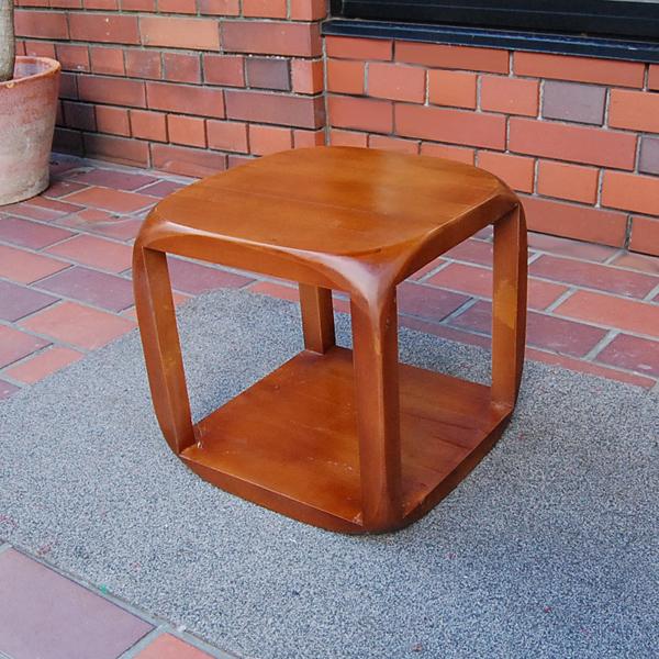 チーク無垢材家具 CUBE フレーム テーブル サイドテーブル 花台