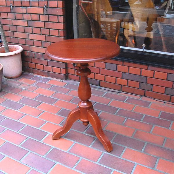 シンプルラウンドテーブルS チーク無垢材