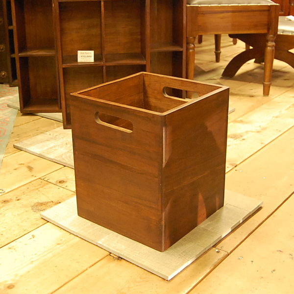 チーク無垢材 ボックス 収納箱